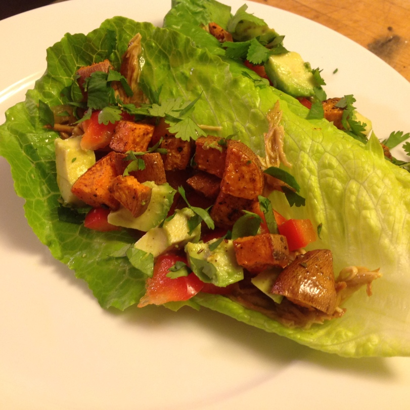 Pulled Chicken Lettuce Tacos